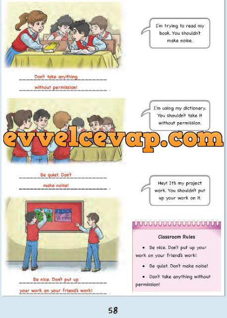 6. Sınıf Ada Matbaa Yayınları İngilizce Çalışma Kitabı 58. Sayfa Cevapları Unit 10 Democracy