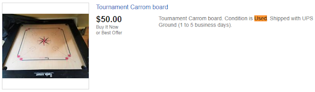 Used Carrom Board