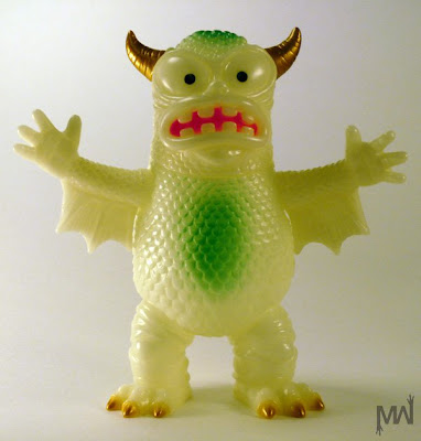 Glow in the Dark Real Fighting Greasebat Vinyl Figure by Jeff Lamm