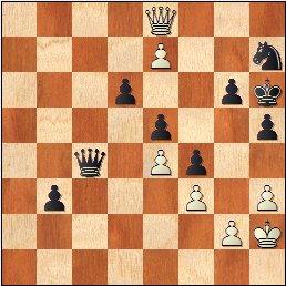 Torneo Nacional de Madrid 1941, partida de ajedrez Rey Ardid - Fuentes, posición después de 67.e7
