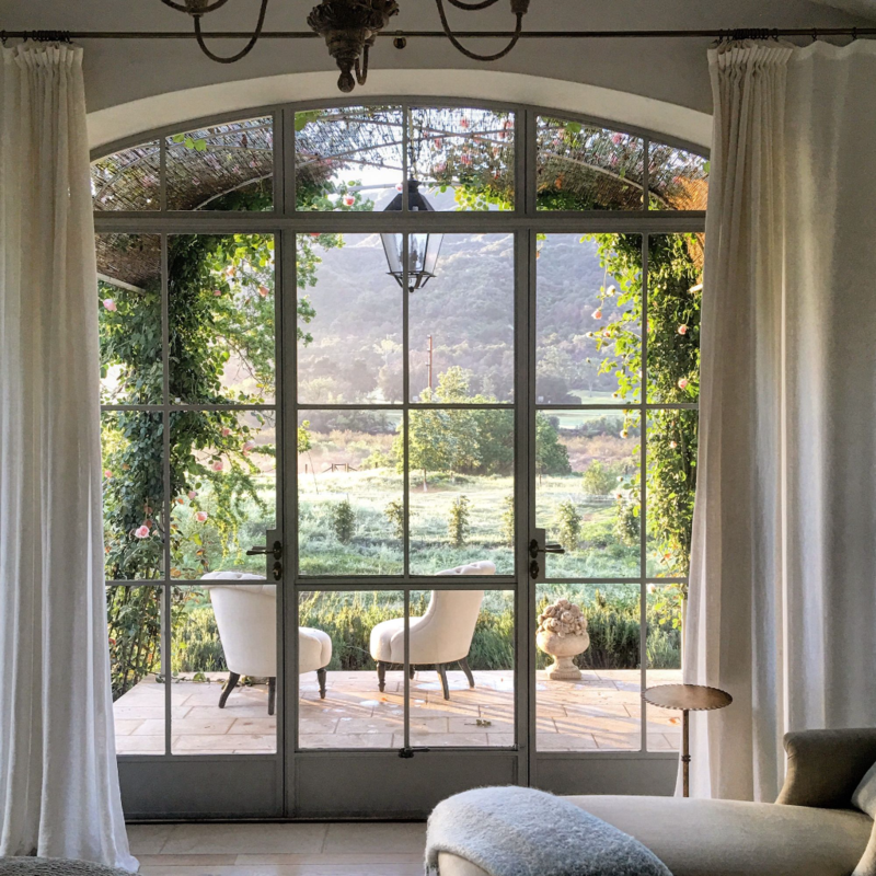 28 decorating ideas for rustic and romantic farmhouse for European french doors