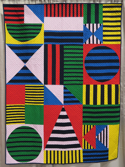 Quiltcon 2019 - Seeing Stripes made by Christine Ricks for the MQG's 2018 Quilts of the Month