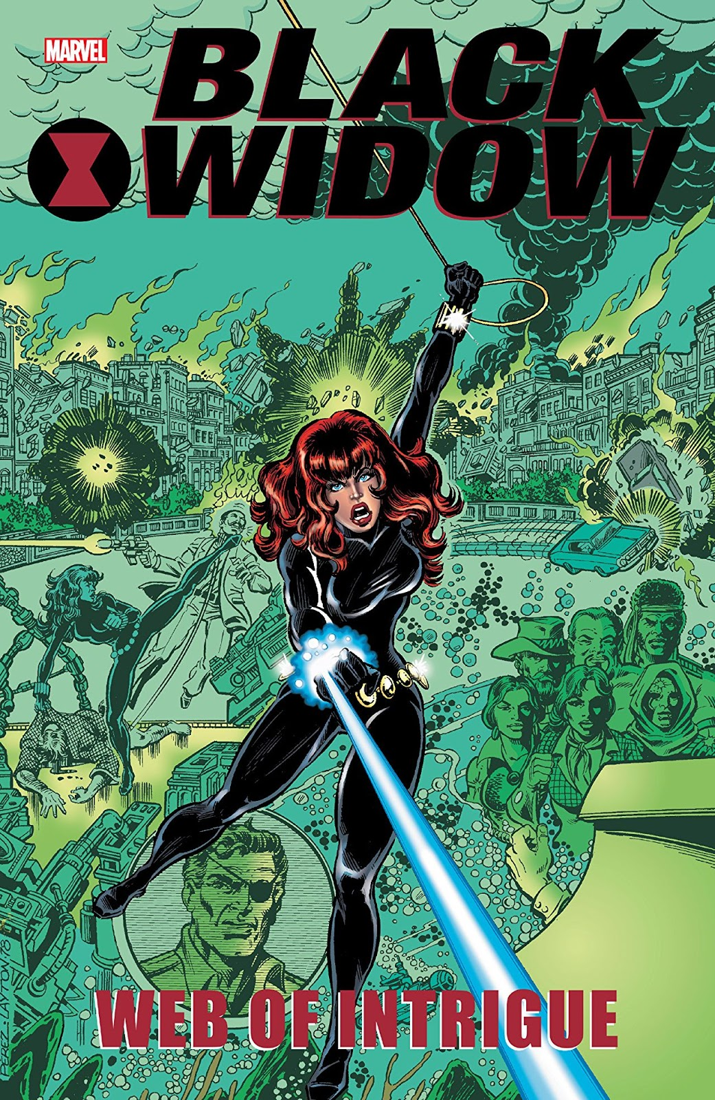Review Black Widow Web of Intrigue Ralph Macchio George Perez George Pérez Gerry Conway Bob Layton Luke McDonnell Paul Gulacy George Freeman Natasha Romanoff Natasha Romanova Marvel Comics cover trade paperback tpb comic book