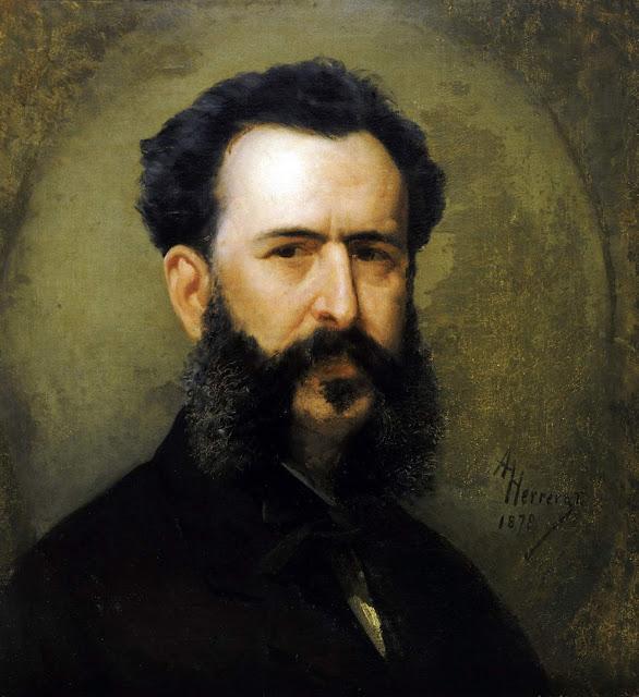 Martín Tovar y Tovar, Self Portrait, Portraits of Painters, Martín Tovar, Fine arts, Portraits of painters blog, Paintings of Martín Tovar, Painter Martín Tovar