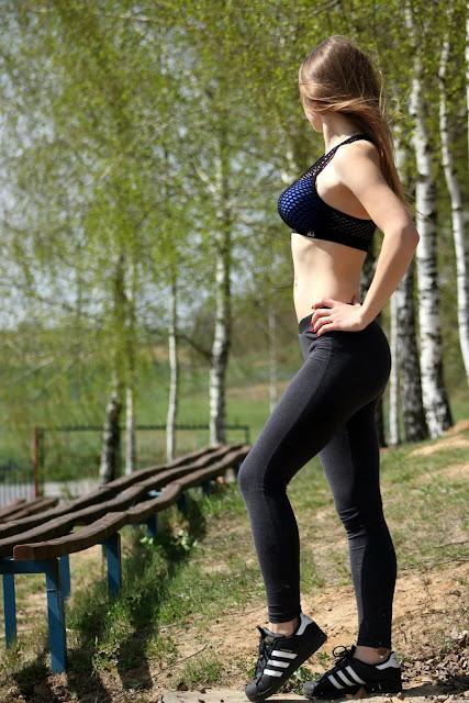 Fitness girl or fitness outfit. ♥ Stylizacja ze sporotwym topem.