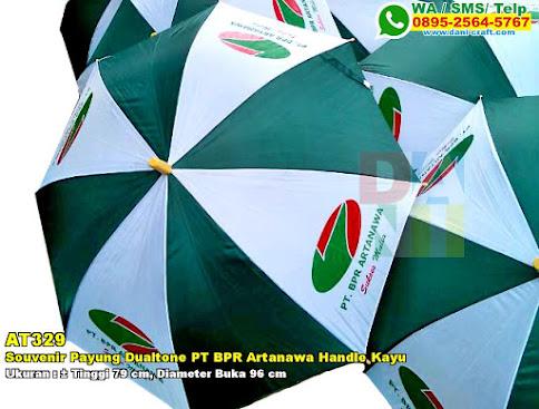Souvenir Payung Dualtone PT BPR Artanawa Handle Kayu