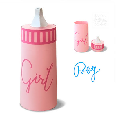 3D Paper Baby Bottle Box