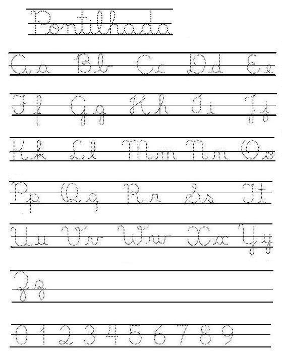 Alfabeto De Letra Cursiva Para Imprimir Imagui