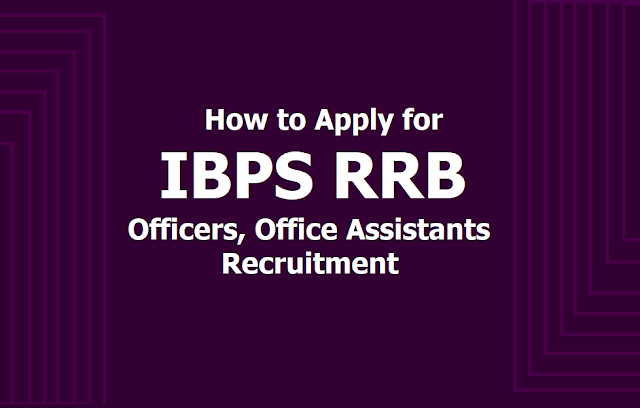 How to Apply for IBPS RRB Officers, Office Assistants Recruitment 2019