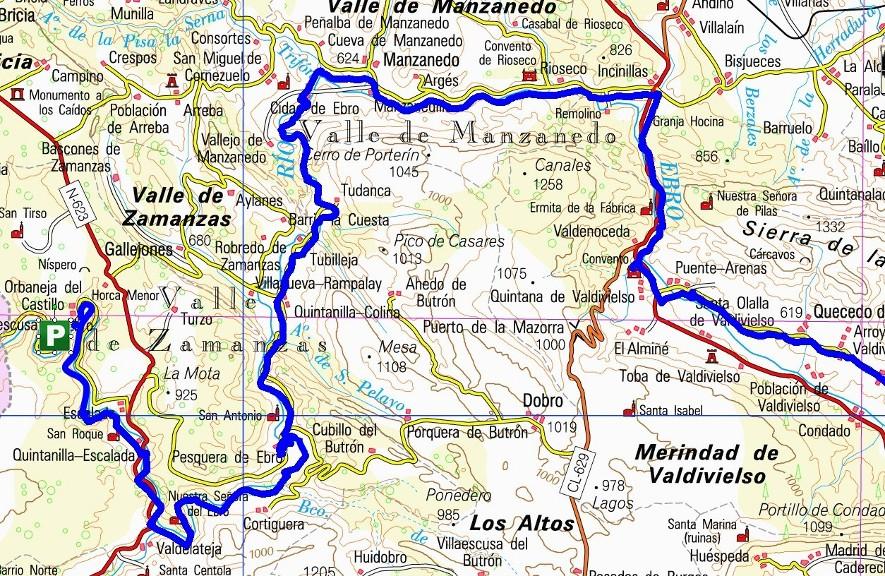 Orbaneja Del Castillo Mapa.Orbaneja Del Castillo Burgos Mapa Mapa
