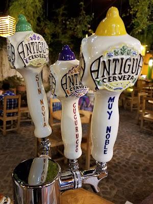 beer tap handles Antigua Guatemala