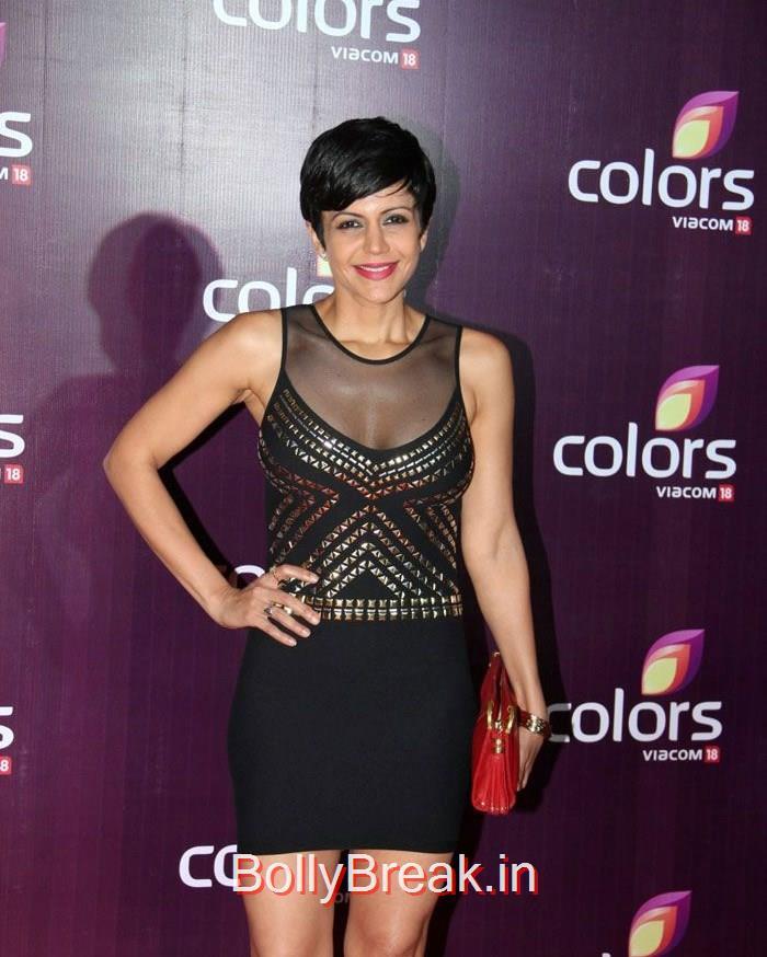 Mandira Bedi, Hot Pics of Mandira Bedi Tina Dutta At Colors Leadership Awards 2015