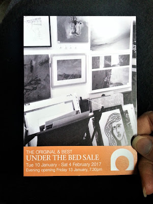 Cupola Gallery's 2017 Under The Bed Sale postcard.