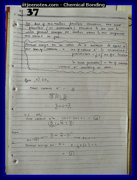 Chemical Bonding Notes IITJEE 14