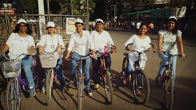 Vividh Bharati Mumbai - Cycle Rally on International Women's Day