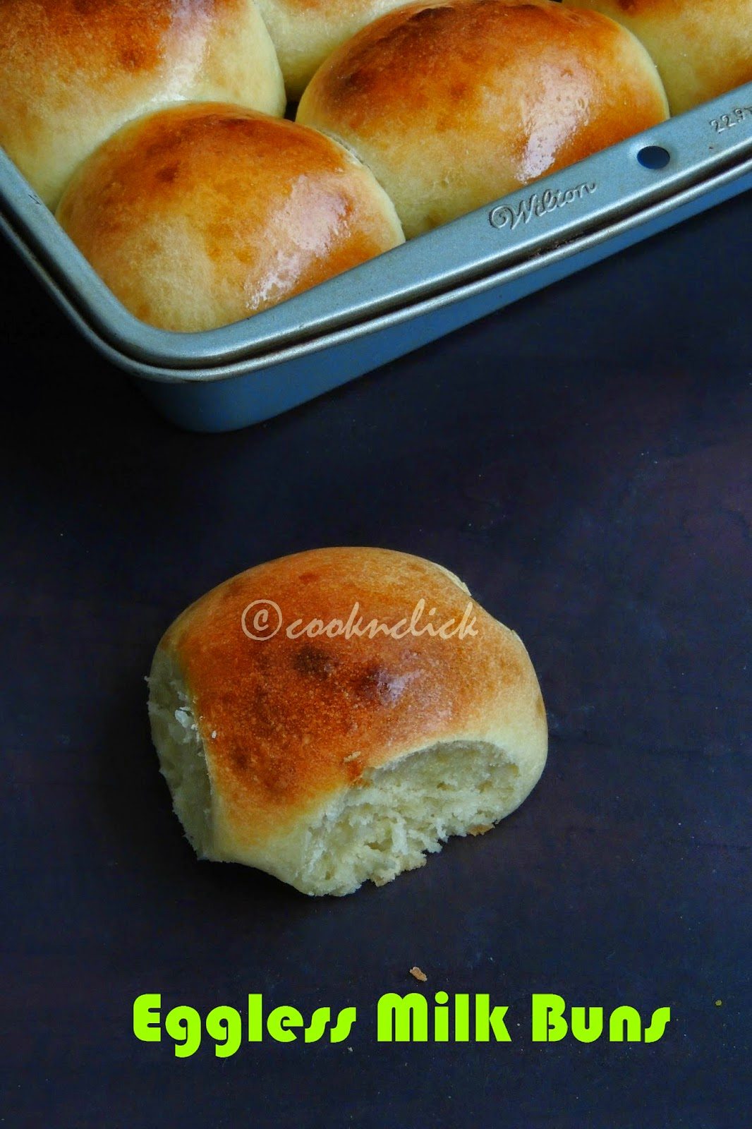 Spongy & Eggless Milk Buns
