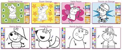 Juegos de peppa pig para pintar