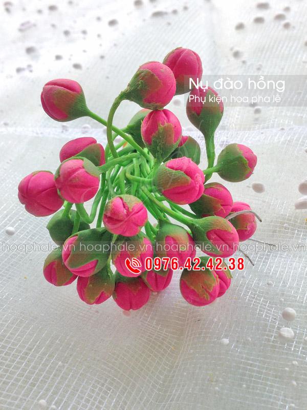 Nụ đào hồng | Phụ kiện hoa pha lê