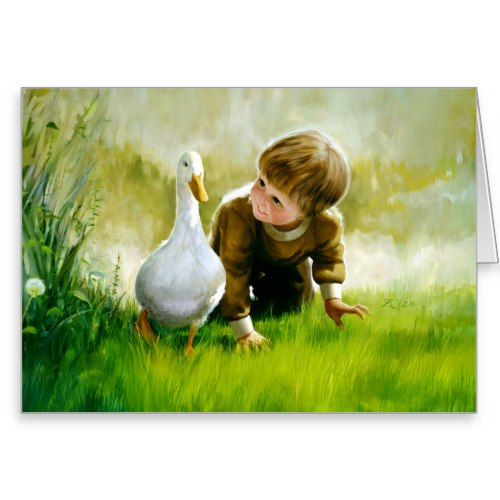 The Duck Waddle | Cute Art Greeting Card