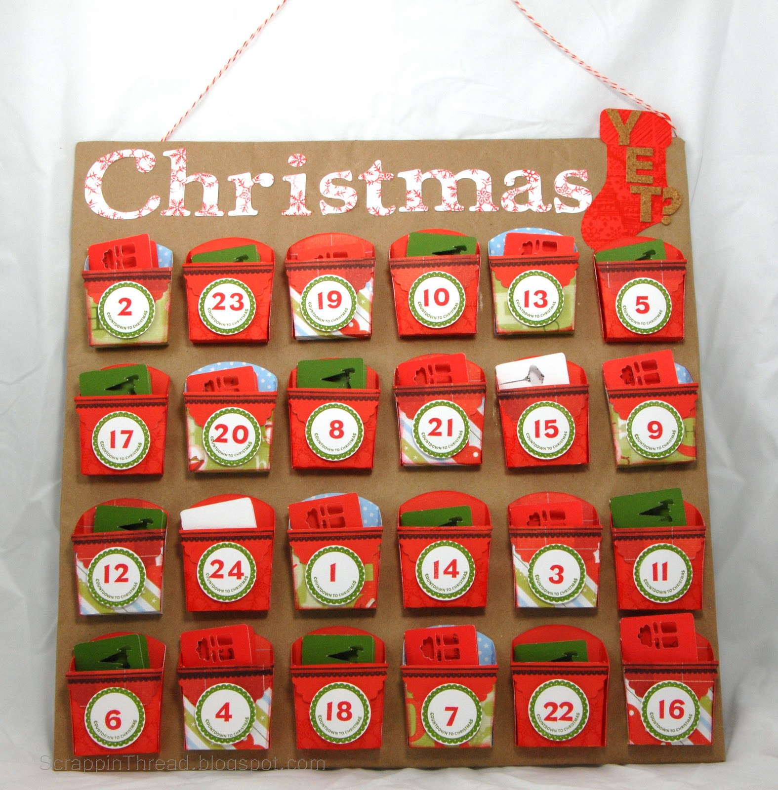 Countdown To Christmas Advent Calendar Using Art Philosophy Cartridge