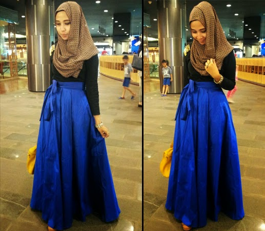 Hijab Style Padu Padan Rok Untuk Tampil Stylish Trend Busana 2017