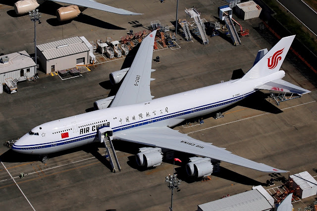 Bird Eye View of Air China Boeing 747-8i