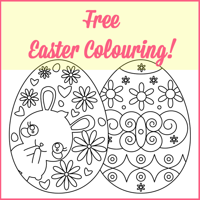 Free Easter Egg Colouring