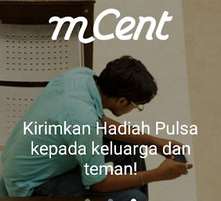 Trik Cepat Mendapatkan Pulsa Gratis 10000 Perhari Dengan mCent Android cover