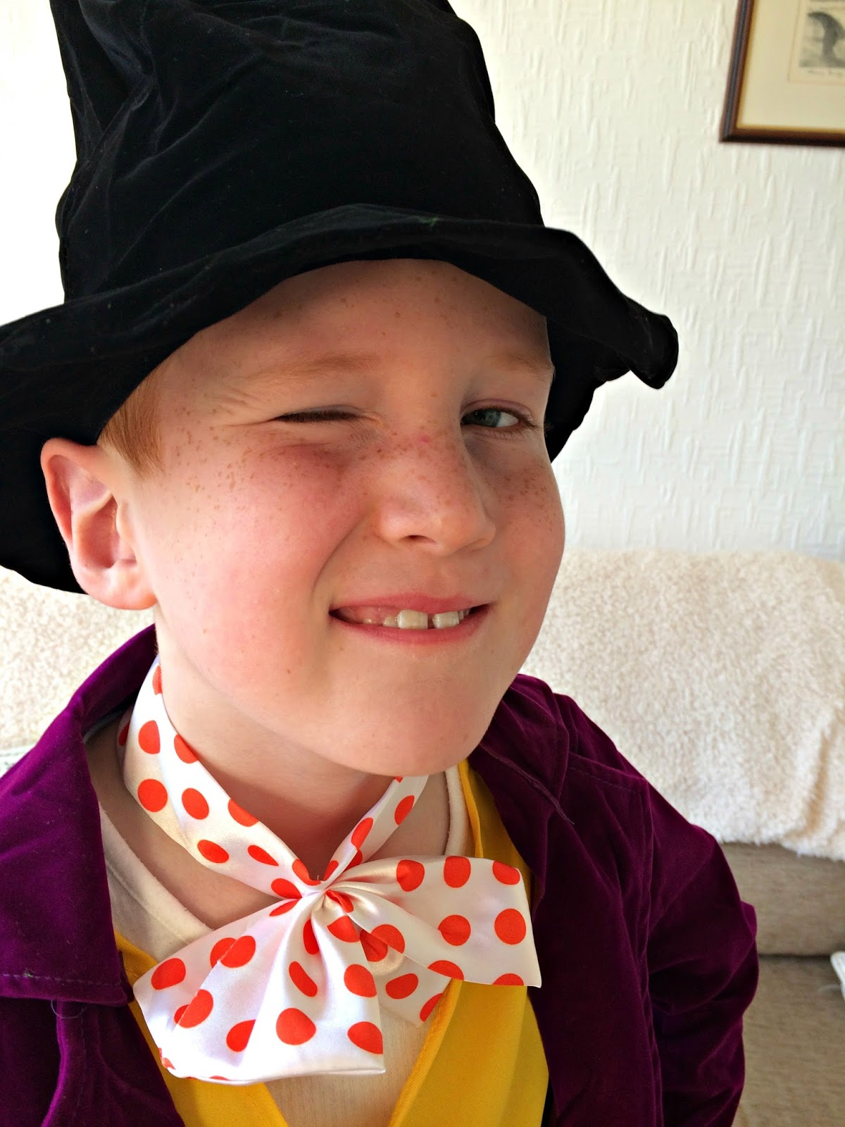 Ieuan dressed as Willy Wonka