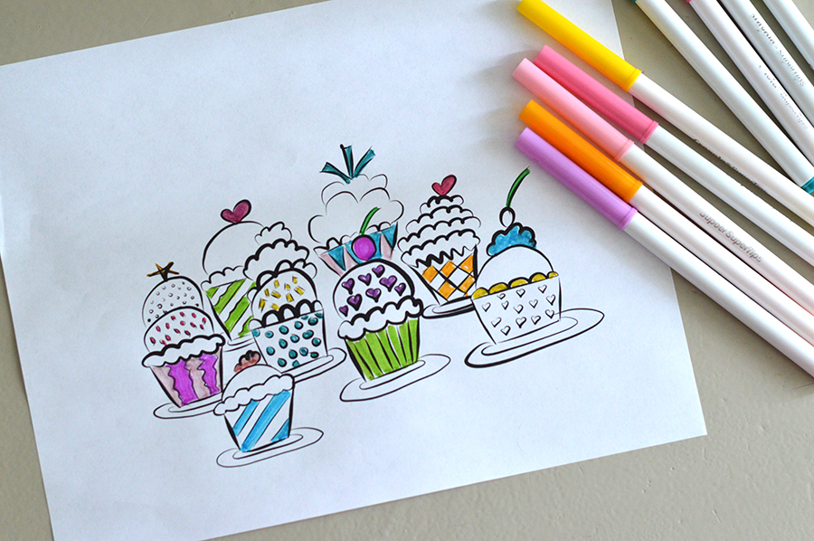 Add Some Frosting And Toppings Pretty Cupcake Papers They Are Perfect For A Coloring Page How About Cupcakes With Your Best Girls While