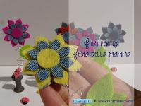 Regalo Festa della Mamma fai da te: Fiori in Feltro