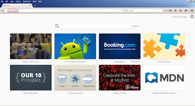 Halaman depan Mozilla Firefox