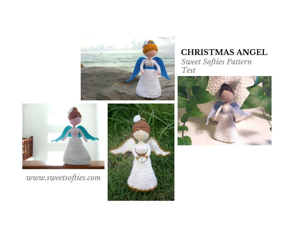 Amigurumi Christmas : Christmas angel pattern test complete sweet softies
