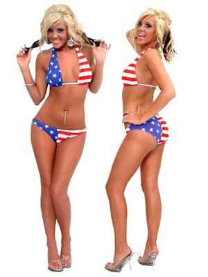 LasVegasGinger 4th Of July Bikini Girls God Bless America
