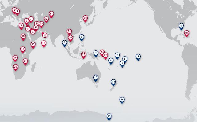 NZ Force Deployment - Map