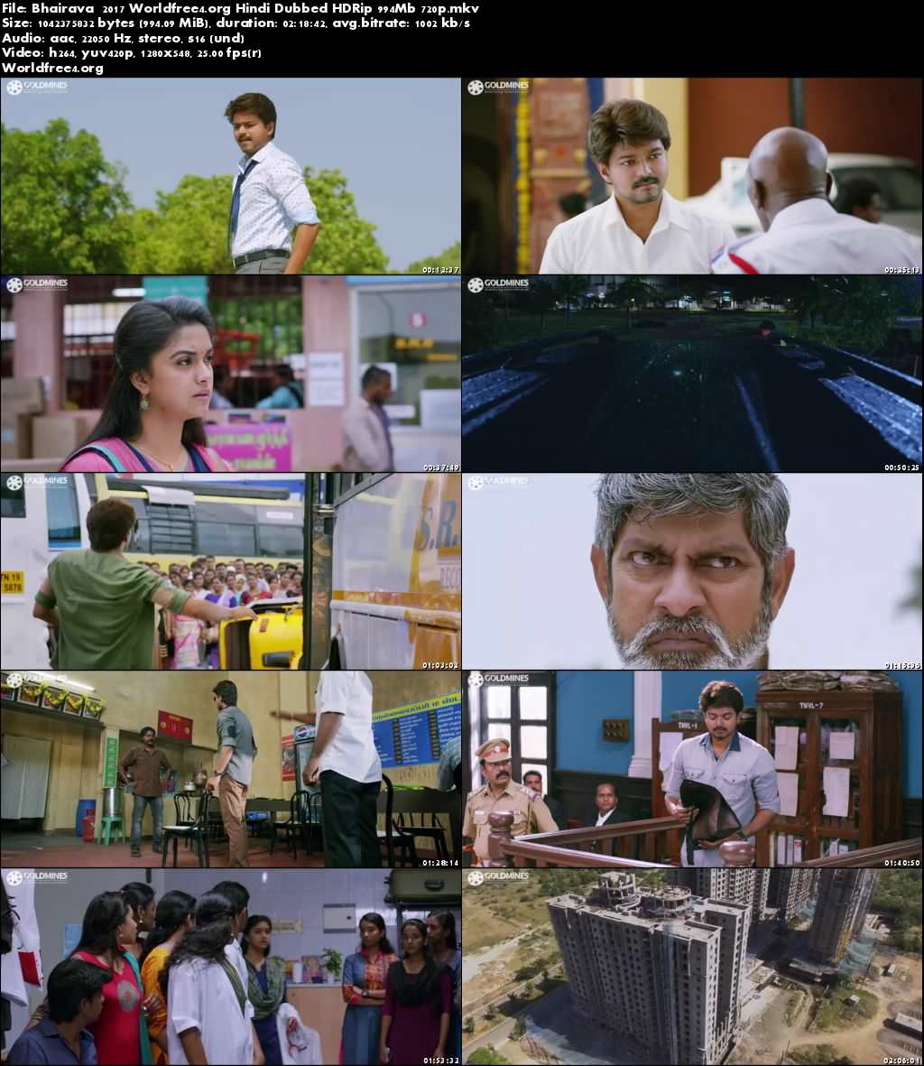 Bhairava 2017 HDRip 400MB Full Hindi Dubbed Movie 480p Download