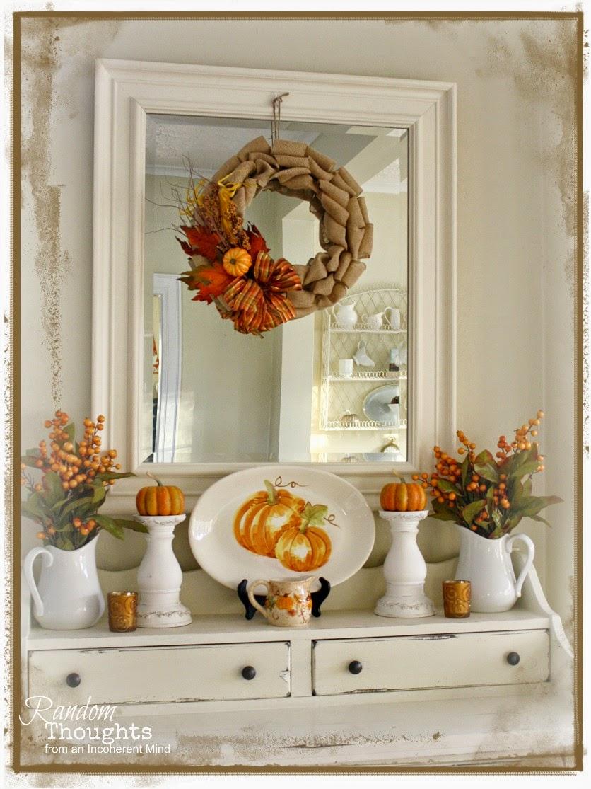 Fall Decor (Dining Room Hutch)