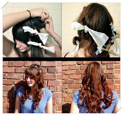 keriting rambut tanpa catokan