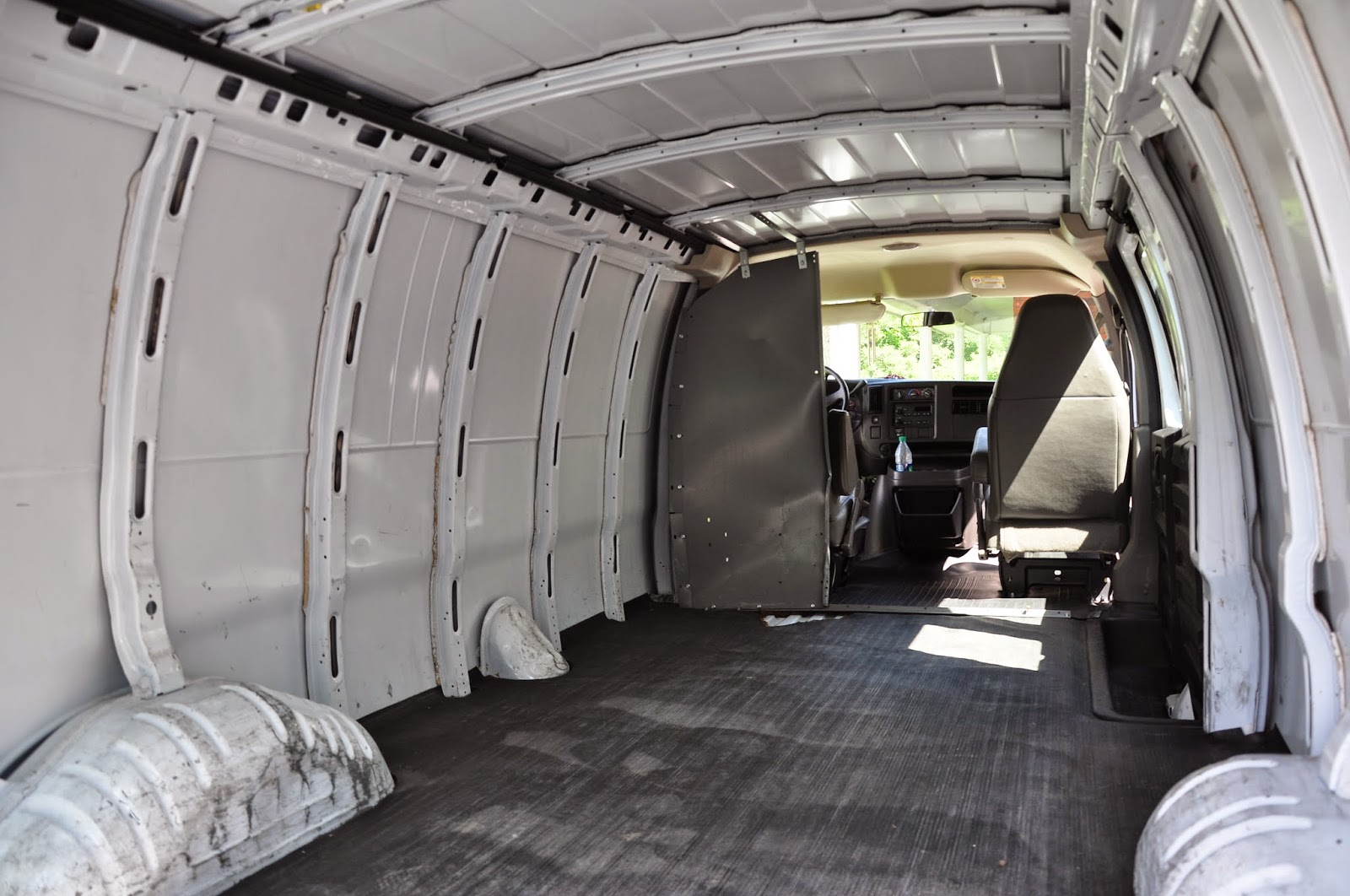 Here Is The Interior Of Chevy Express As We Bought It Empty Shell Offers Plenty To Work With Van A Blank Canvas Waiting For An Artist