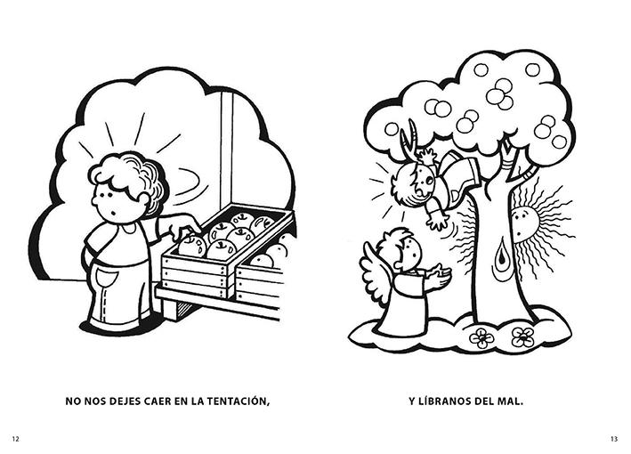 PARA COLOREAR: Libro: ORACIONES DEL ROSARIO