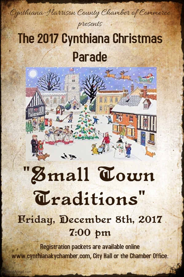 2017 cynthiana christmas parade theme small town traditions