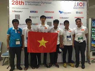 Đoàn Olympic Tin học 2016 của Việt Nam mang về 4 huy chương