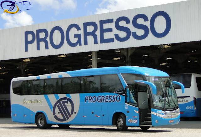 Resultado de imagem para Empresa de ônibus Progresso