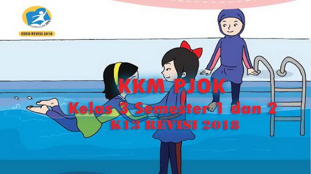 KKM PJOK Kelas 3 Semester 1 dan 2 K13 Revisi 2018
