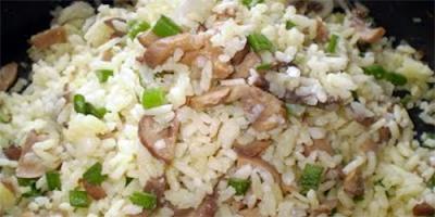 Arroz con champiñones receta