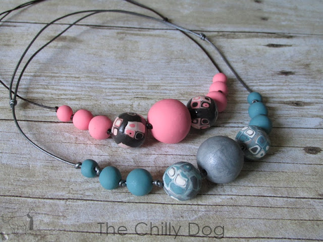 How to make a simple leather cord and polymer clay necklace.