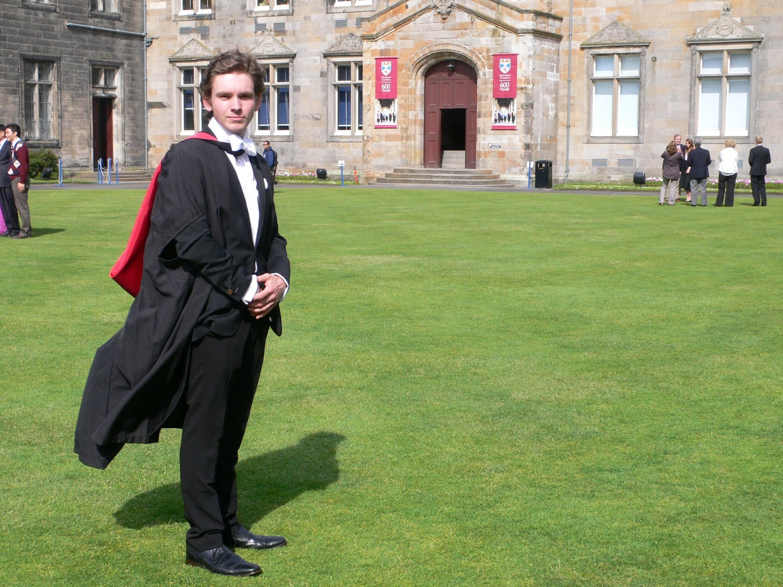 what to wear under graduation gown male