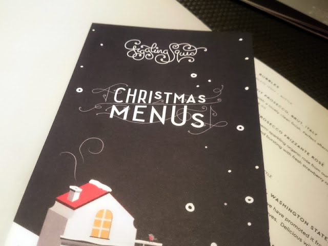 chrstmas menu - giggling squid brighton