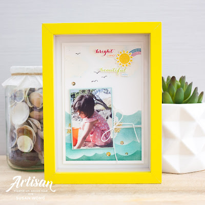 Sunshine and Rainbows by Stampin' Up! Beach theme decor - Stamping Susan Wong