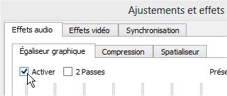 capture d'écran VLC